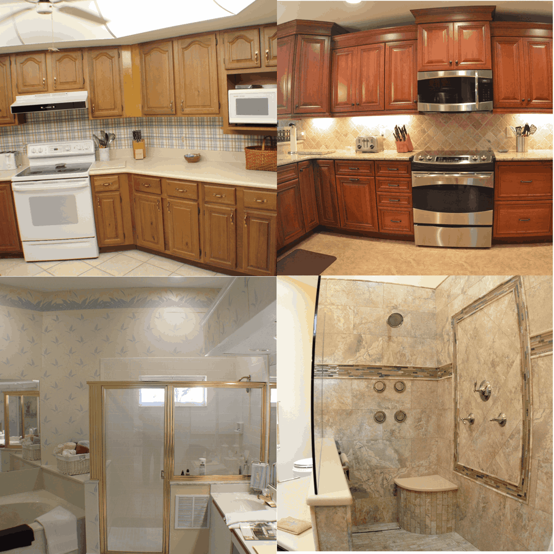 Kitchen and Bath on the Isle Before and after