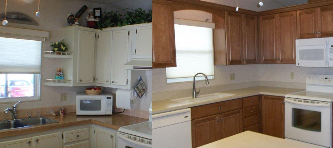 Kitchen and Bath on the Isle Remodel before and after