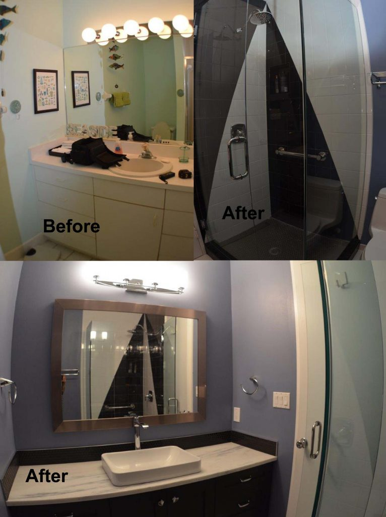 Bathroom Remodeling Venice Florida guest bathroom before and after - kitchen and bath on the