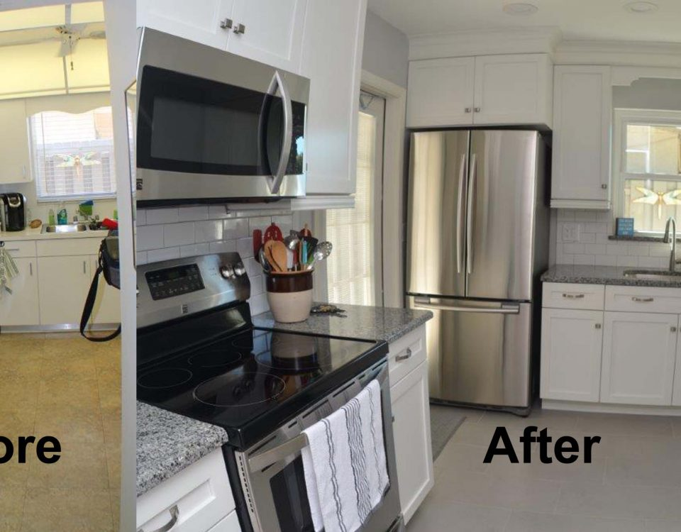 Before and After Kitchen Remodel Venice FL project