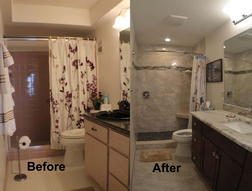 Completed projects kitchen and bath on the islekitchen and bath on the isle - S bathroom remodel before and after ...