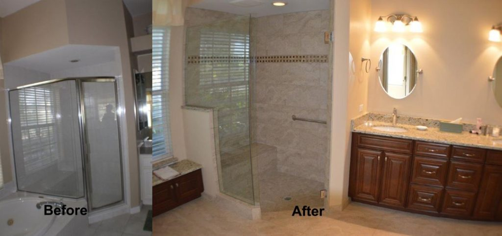 Venice bathroom remodeled kitchen and bath on the for Bathroom remodeling venice fl