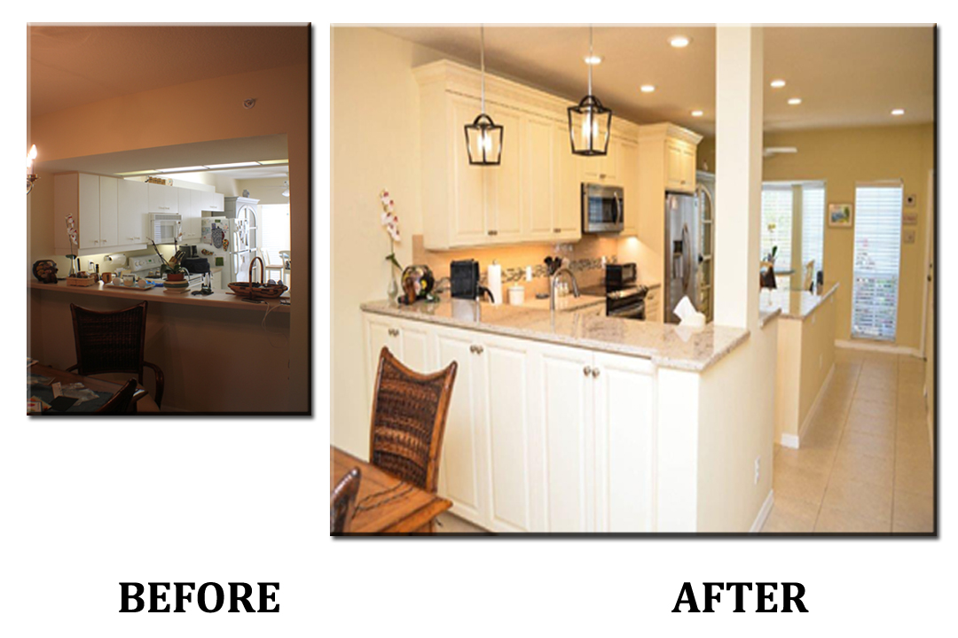 Kitchen with Pass Through Before and After - Kitchen and ...