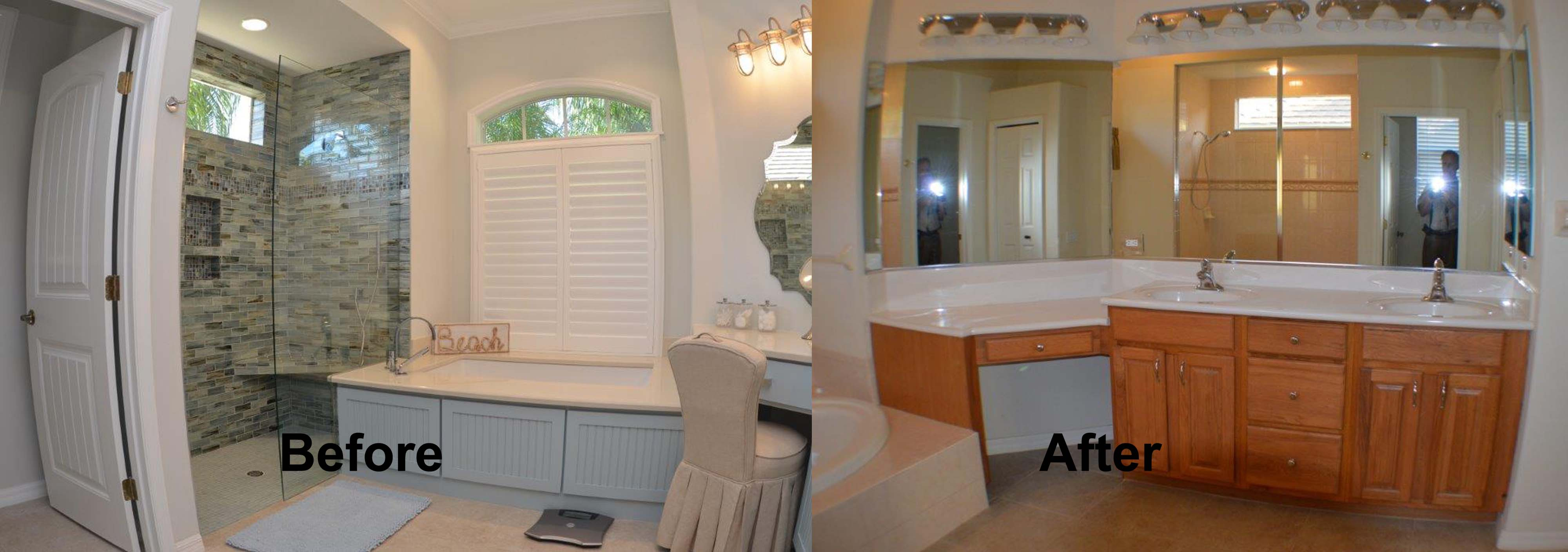 venice florida master bath remodel project - kitchen and bath on the
